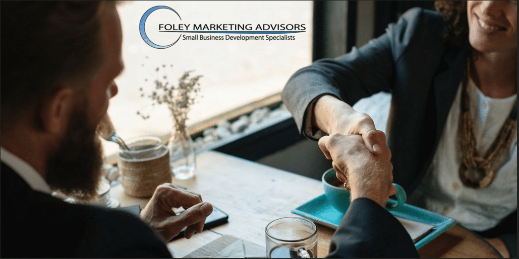 business people meeting Foley Marketing Advisors
